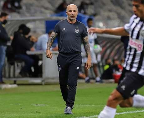 Jorge Sampaoli lamentou muito o resultado de empate contra o Sport no Mineirão (Pedro Souza / Agência Galo / Atlético)