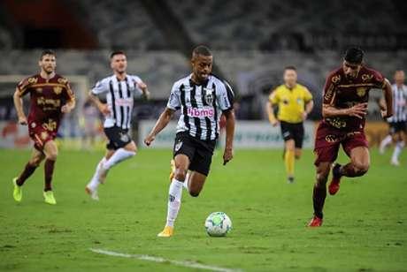Keno será desfalque certo do time alvinegro para o jogo contra o Palmeiras, na segunda-feira, 2 de novembro-(Pedro Souza/Atlético-MG)