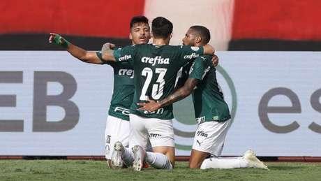 Com dois gols de Luiz Adriano e um de Wesley, Palmeiras quebrou jejum de vitórias (Foto: Cesar Greco/Palmeiras)