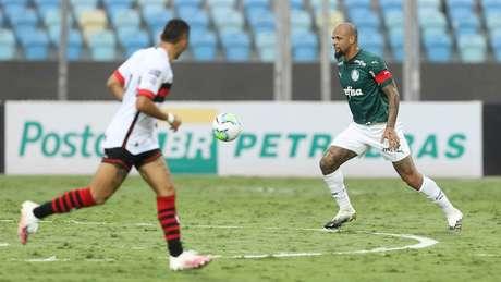 Felipe Melo foi um dos melhores em campo na partida contra o Atlético-GO (Foto: Cesar Greco/Palmeiras)