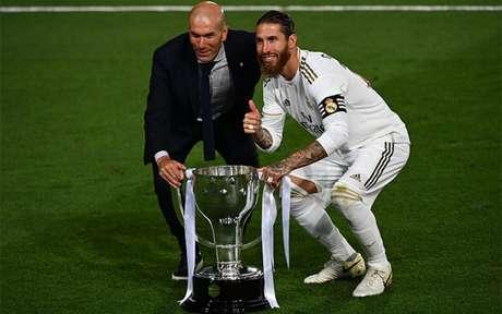 Sergio Ramos é um dos maiores ídolos do Real Madrid (Foto: GABRIEL BOUYS / AFP)