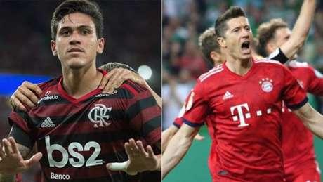 Pedro foi bastante elogiado pelo comentarista, que lembrou também do atacante do Bayern (Divulgação)