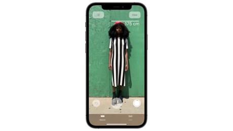 App Medida consegue dizer a altura das pessoas pelo iPhone com scanner LiDAR. (Imagem: Divulgação/Apple)