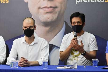 Bruno Covas (PSDB), prefeito de São Paulo, e Ricardo Nunes (MDB) participam do Webinar da Arrancada, primeiro ato da campanha à reeleição