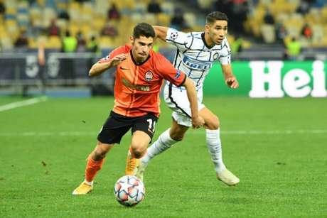 Shakhtar chegou aos quatro pontos, enquanto Inter tem dois (Foto: AFP)
