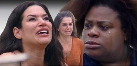 Raíssa, Luiza (já eliminada) e Jojo em 'A Fazenda 12': todo mundo à beira de um ataque de nervos