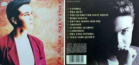 Capa e contracapa do disco lançado por Flávio Silvino como cantor