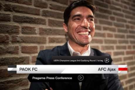 Abel já comandou o PAOK na Champions (Foto: Divulgação/PAOK)