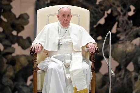 Papa Francisco em audiência geral no Vaticano