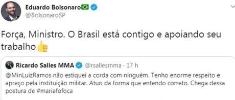 Tweet de Eduardo Bolsonaro