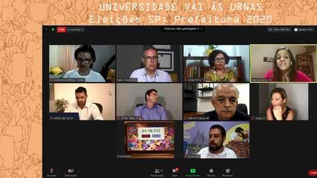 O debate virtual entre candidatos à Prefeitura de São Paulo, organizado por entidades estudantis
