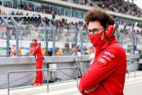 Mattia Binotto no domingo do GP de Portugal de F1