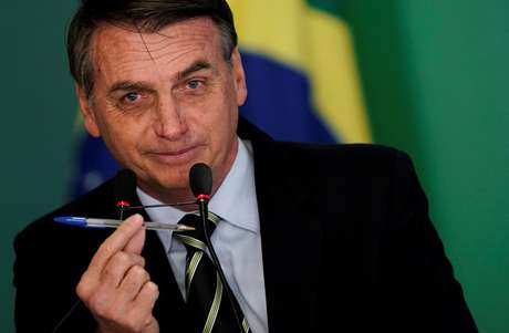 Presidente Jair Bolsonaro durante cerimônia no Palácio do Planalto 15/01/2019 REUTERS/Ueslei Marcelino
