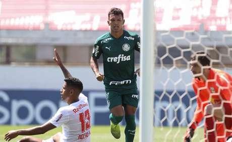 O Palmeiras venceu o Red Bull Bragantino pelo Brasileirão em 2020 (Foto: Cesar Greco/Agência Palmeiras)