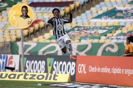 Marinho festejou gol com soco no ar, como Pelé, em jogo contra o Fluminense (Foto: Delmiro Junior/Photo Premium)
