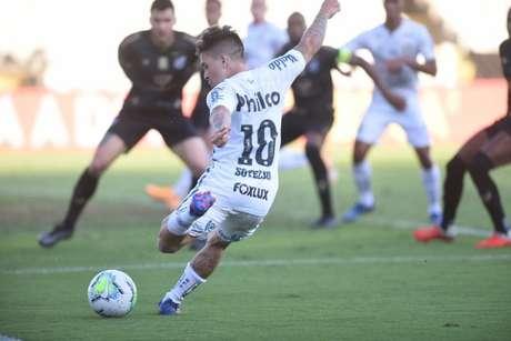 Soteldo foi um dos principais nomes do Peixe no duelo diante do Ceará, pela Copa do Brasil (Foto: Ivan Storti/Santos)