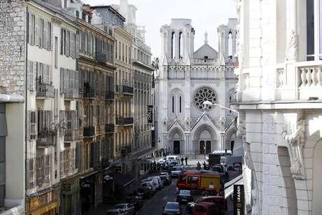 Fachada da Basílica de Notre-Dame, em Nice
