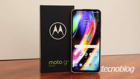 Motorola Moto G9 Plus. (Imagem: Emerson Alecrim/Tecnoblog)