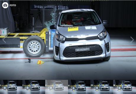Mesmo com dois airbags, Kia Picanto teria resultado ruim, segundo o Latin NCAP.