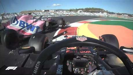 Max Verstappen se envolveu em acidente com Lance Stroll