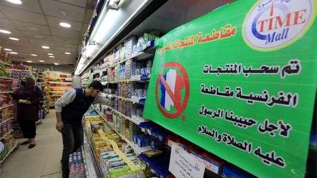 A Jordânia é um dos vários países árabes onde os produtos franceses foram retirados das lojas