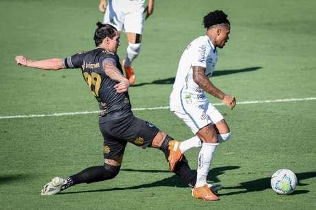 Peixe empatou em 0 a 0 contra o Vozão no jogo de ida das oitavas (Foto: Lenita Rodrigues/Ofotográfico)