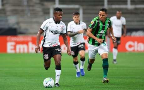 Corinthians teve um alto número de passes contra o América-MG (Foto: Rodrigo Coca/Agência Corinthians)