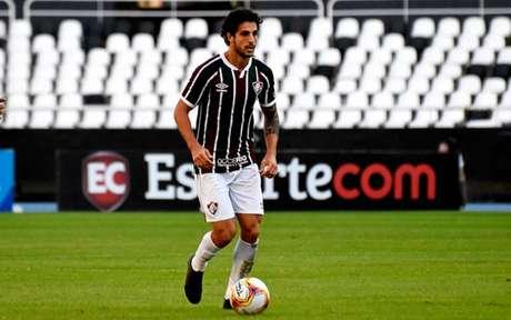 Hudson retomou a vaga como titular do Fluminense de Odair Hellmann (Foto: LUCAS MERÇON / FLUMINENSE F.C.)