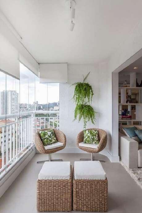 4. A samambaia é comumente usada como plantas para varanda com sombra – Foto: Ana Medeiros
