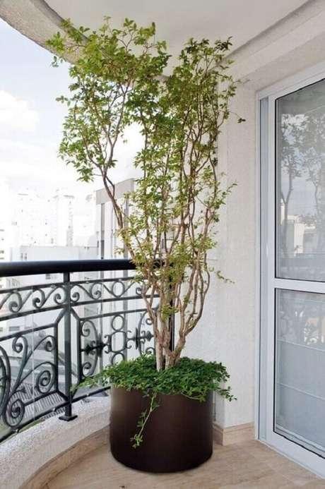 54. Vasos de plantas para varanda de apartamento grande – Foto: Simples Decoração