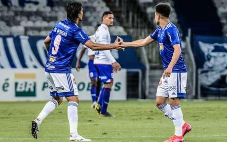 O time cruzeirense foi seguro em campo e a confiança passada por Felipão contriubuiu para o três pontos da equipe mineira-(Bruno Haddad/Cruzeiro)