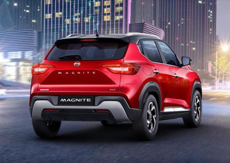 Nissan Magnite: porta-malas com capacidade para 360 litros.
