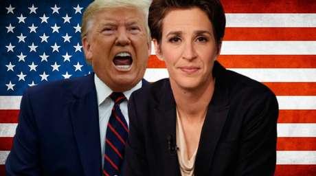Trump e Rachel já trocaram várias 'farpas' pela mídia e nas redes sociais