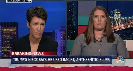 Rachel Maddow em seu programa: primeira âncora declaradamente gay em um programa noturno de notícias da TV americana