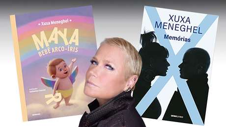 Xuxa entre seus livros recém-lançados: uma artista impávida em ótima fase pessoal e profissional aos 57 anos