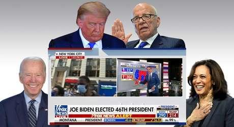 A Fox News de Rupert Murdoch reconheceu a vitória de Joe Biden após desconsiderar os apelos de apoio feitos por Trump