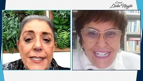 Leda Nagle e Márcia Fernandes na transmissão online na qual a previsão foi divulgada