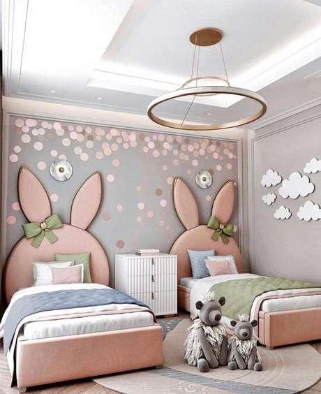 40. Cabeceira infantil de coelhos – Via: Pinterest