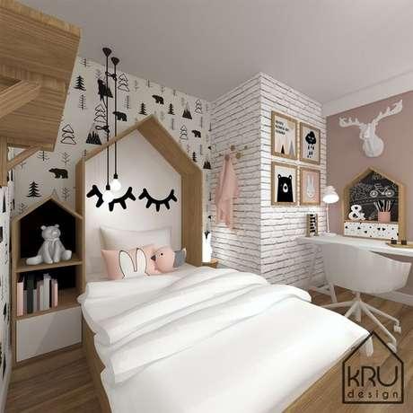 13. Cabeceira infantil casinha – Via: Kru Design