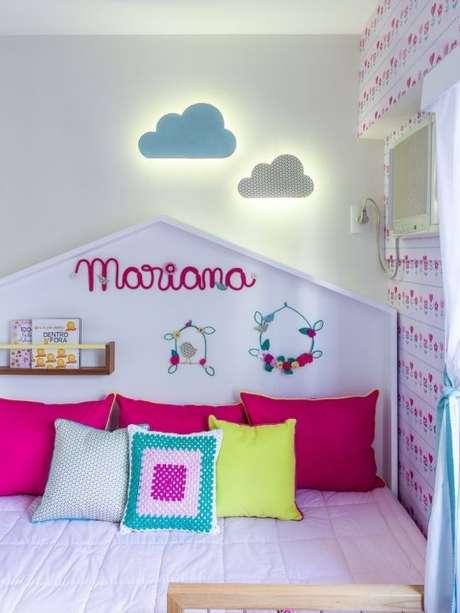 4. Cabeceira infantil casinha – Via: NaToca Design