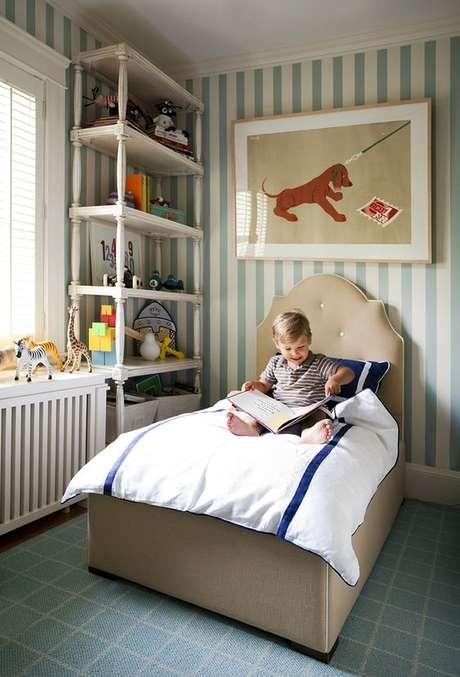 23. Cabeceira infantil para quarto de menino – Via: Leontine Lines