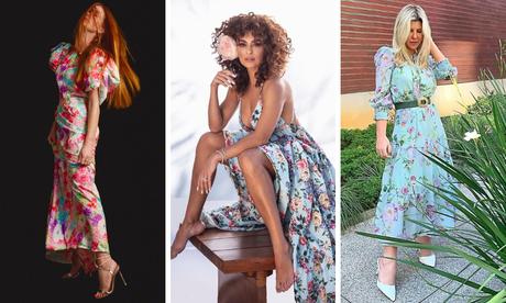 Marina Ruy Barbosa, Juliana Paes e Iris Stefanelli de vestido floral (Fotos: Reprodução/Instagram)