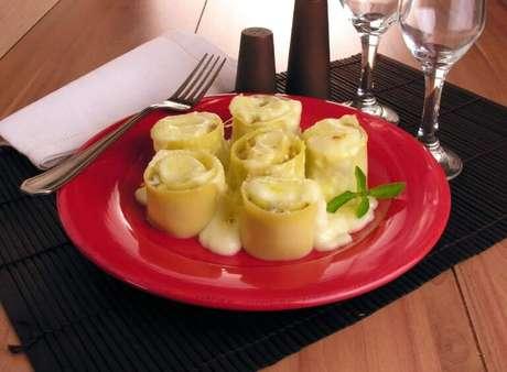 Guia da Cozinha - Receitas de rondelli para um jantar a dois
