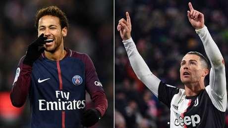 Neymar e Cristiano Ronaldo poderiam estar envolvidos em troca (Franck Fife/AFP Reprodução Instagram)