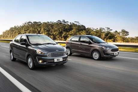 Ford Ka Sedan e Ka Hatch: os dois carros eram produzidos em Camçari (BA) e sairão de linha.