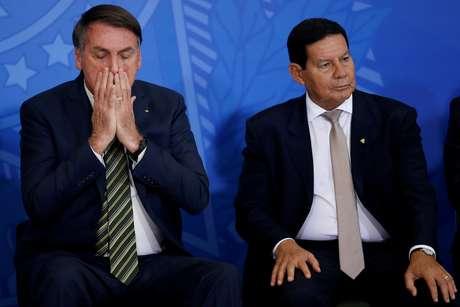 Presidente Jair Bolsonaro e Hamilton Mourão