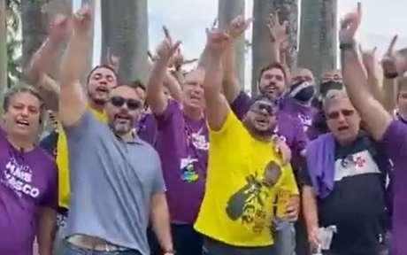 Adversários da eleição deste sábado gritaram 'Casaca' após vitória do Vasco (Foto: Reprodução)