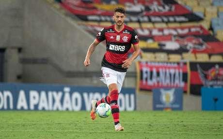 Gustavo Henrique em ação pelo Flamengo, no Maracanã (Foto: Alexandre Vidal/Flamengo)