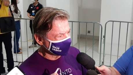 Jorge Salgado foi eleito novo presidente do Vasco e projetou sua gestão (Foto: Felippe Rocha)