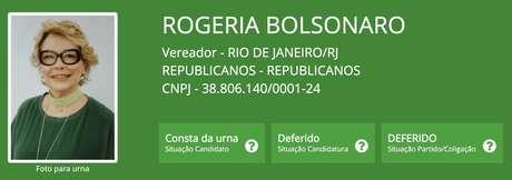 Ex-mulher de Jair Bolsonaro e mãe de Carlos, Rogeria não conseguiu se eleger